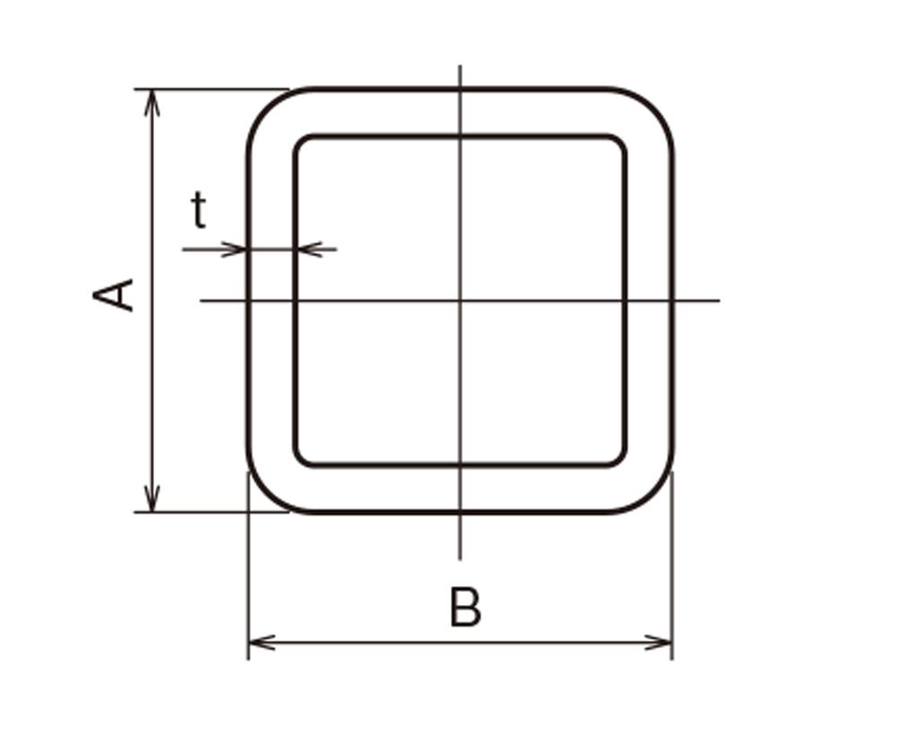 角 パイプ 長方形
